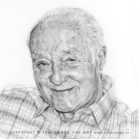 father-in-law portrait in pencil