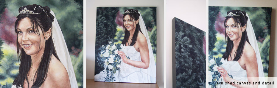 wedding painting in acrylic