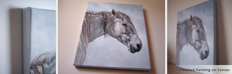 equine painting on canvas