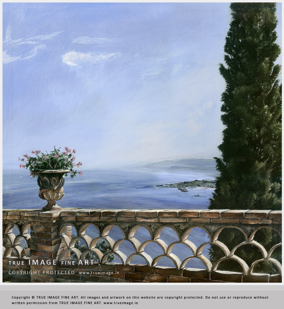 sicily landscape painting in acrylic by True Image Fine Art