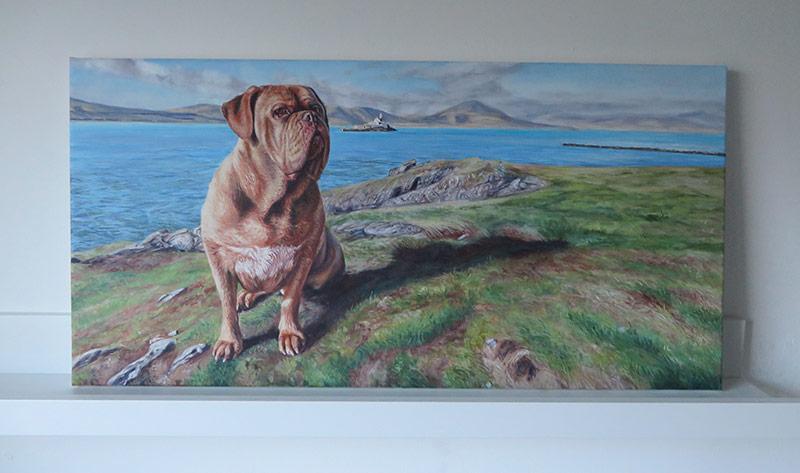 bordeauxdog acrylic painting