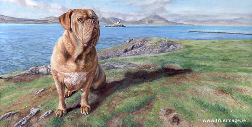 dog portrait painting on canvas