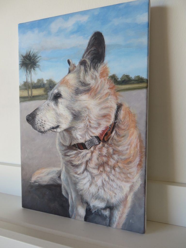 labrador cross painting on canvas