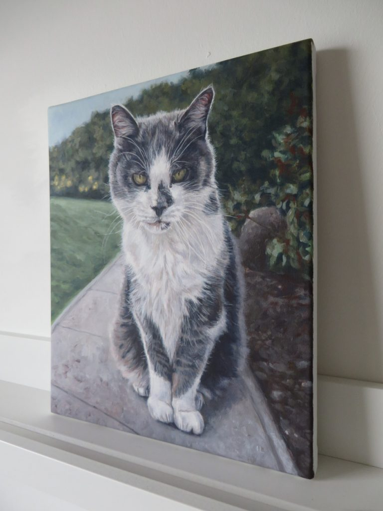 cat portrait painting on canvas
